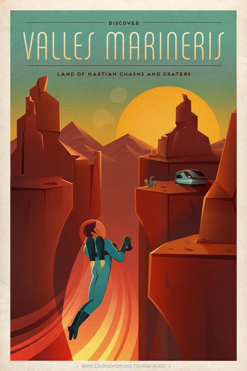 SpaceX выпустила винтажные постеры о жизни на Марсе / Geektimes