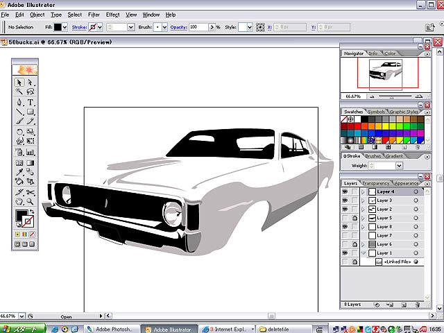 Урок Illustrator для начинающих Векторный автомобиль в Illustrator - Страна Фотошопия