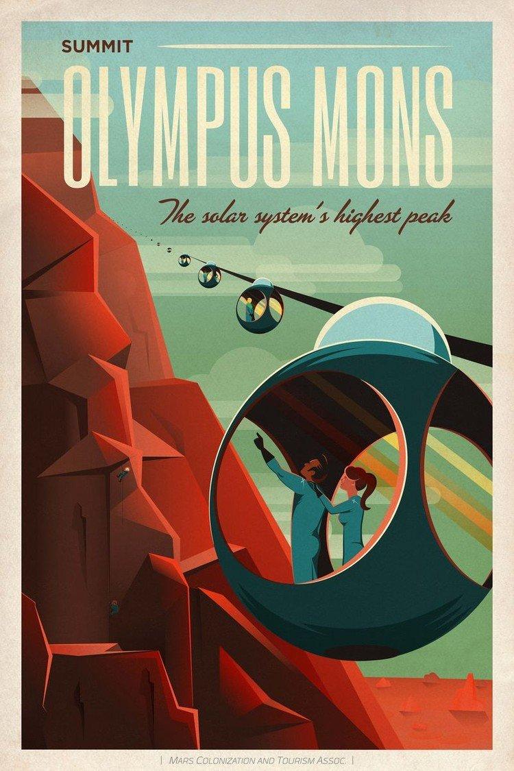 Жизнь на Марсе в стиле ретро