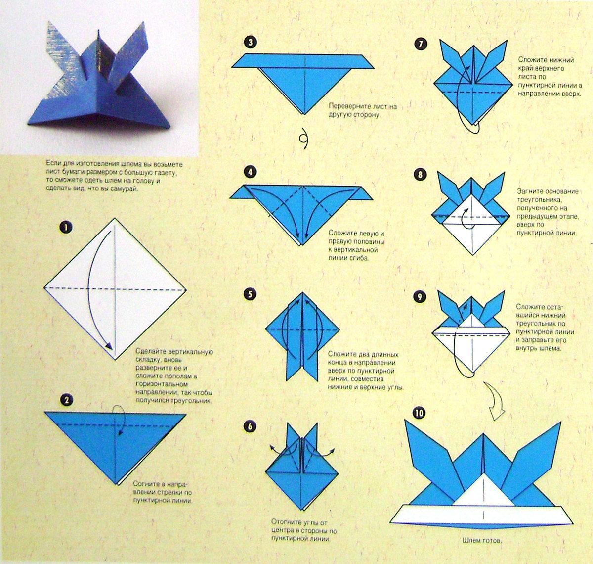 Поделка из оригами пошаговая инструкция