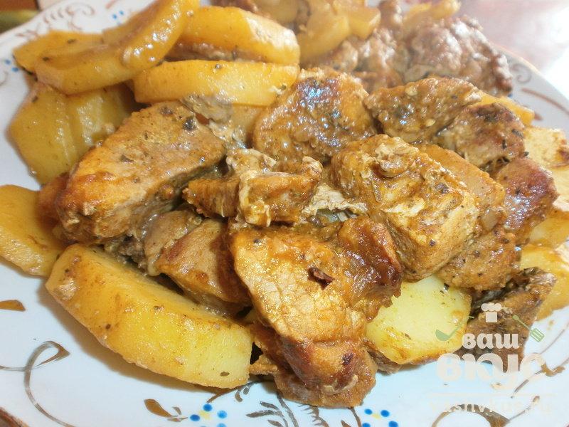 Антрекот из свинины в духовке, маринованный в горчице а этот вариант больше понравится любителям острого.