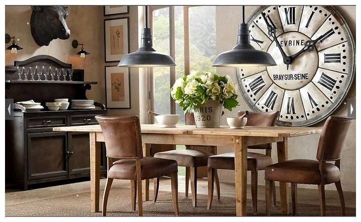 Настенные часы в интерьере викторианский стиль