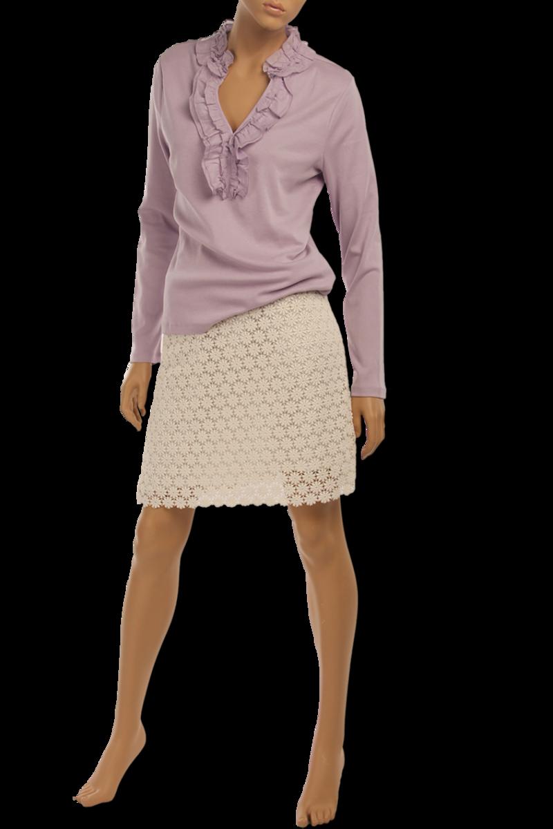 Блузка Ralph Lauren из хлопка с воротником жабо | интернет- магазин WM-SHOP.RU