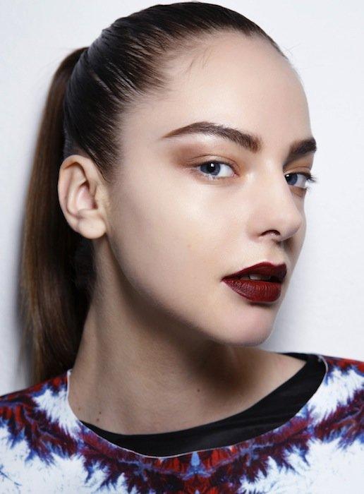 бордовая помада фото макияж