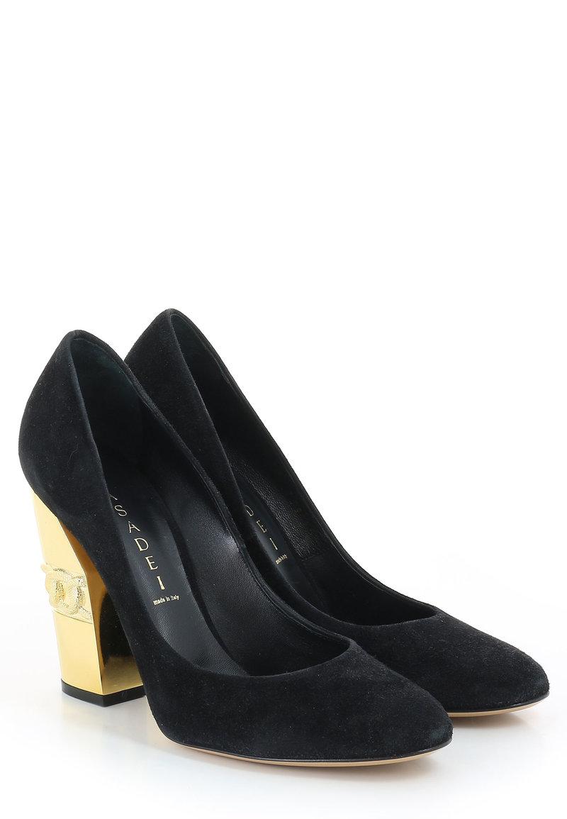 Черные туфли CASADEI PodiumLuxe.ru