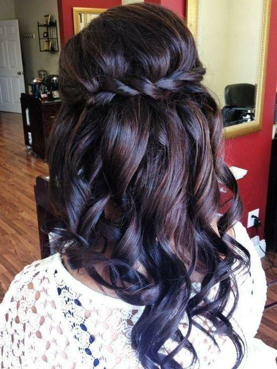 Cвадебные прически на средние волосы, фото (10)