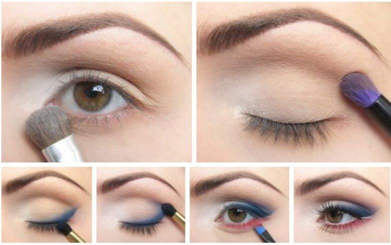 дневной макияж для карих глаз пошагово фото