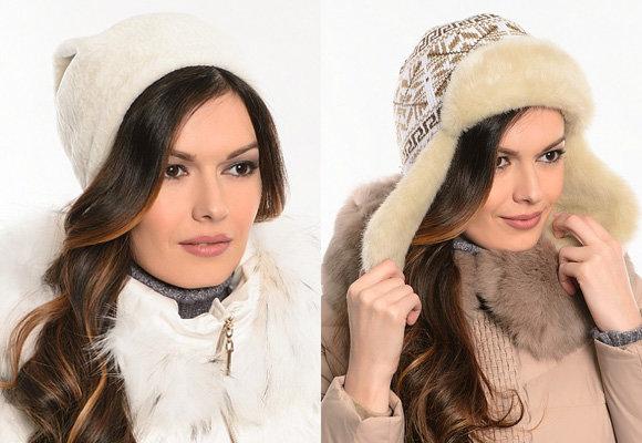 Фото: стильные меховые шапки