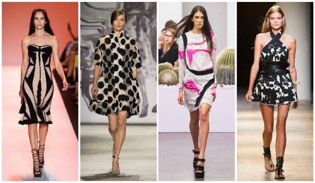 геометрические платья весна-лето 2015