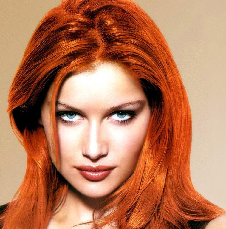 Яркий цвет волос, фото