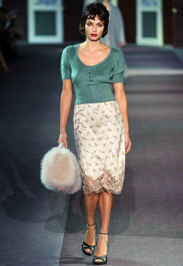 Юбка-карандаш Louis Vuitton