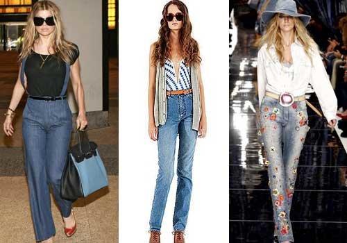 Как выбрать и носить джинсы с высокой талией