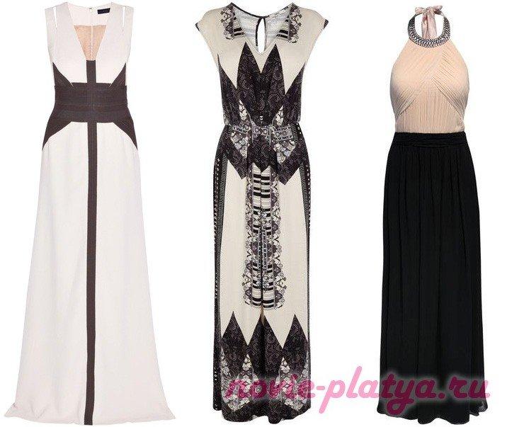 Красивые вечерние платья в пол
