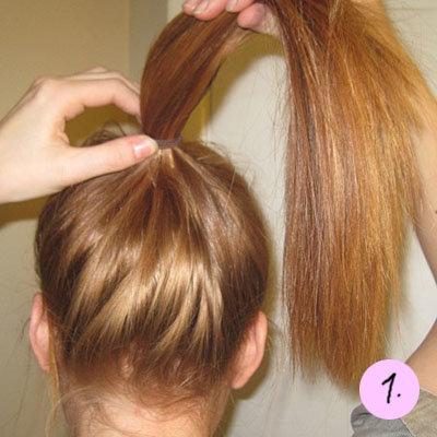 Креативный пучок (прически + пошаговые инструкции): Группа Прически и уход за волосами