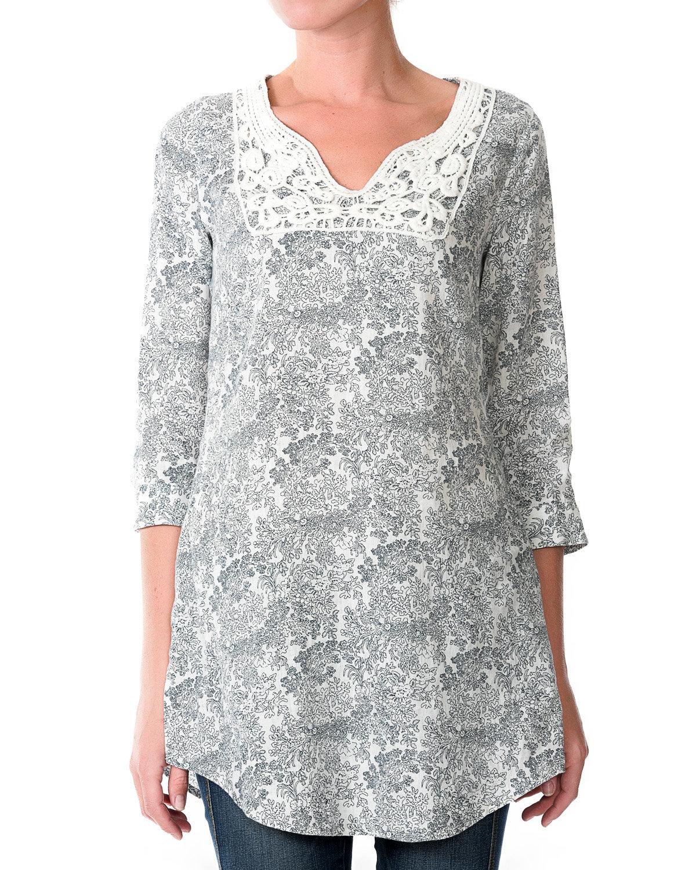 Купить блузка с длинным рукавом 1139. Цвет: white
