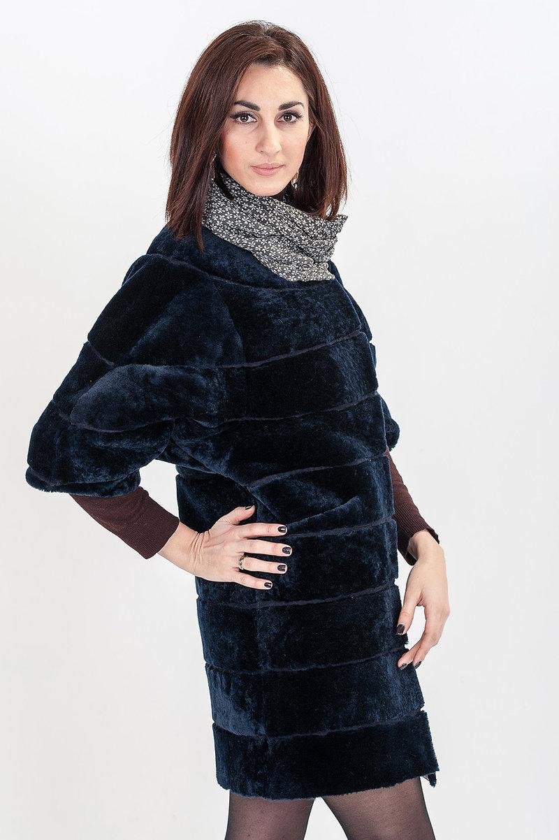Купить Мутон Ундина тем.синий в Киеве, цена — «ВашаШуба»