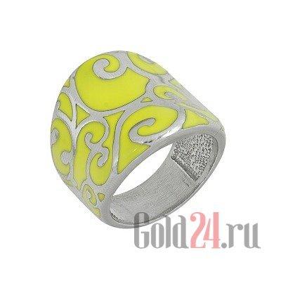Купить серебряное кольцо с эмалью КЮП (163671) за 3 544 руб. в Москве и СПб на Gold24.ru