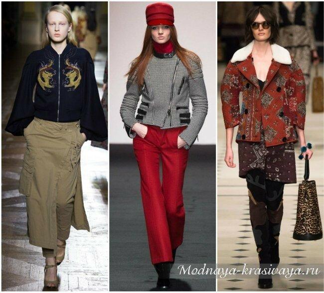 Куртки на зиму-осень 2016 от известных дизайнеров