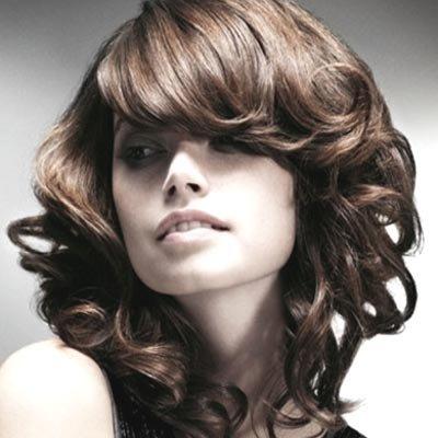 локоны на средних волосах