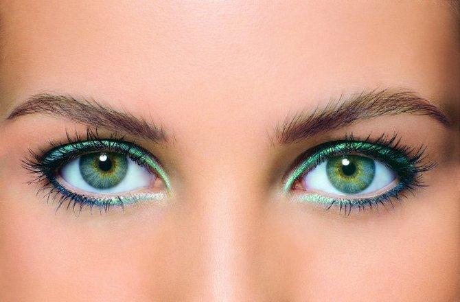 Макияж для зеленых глаз - пошаговое фото