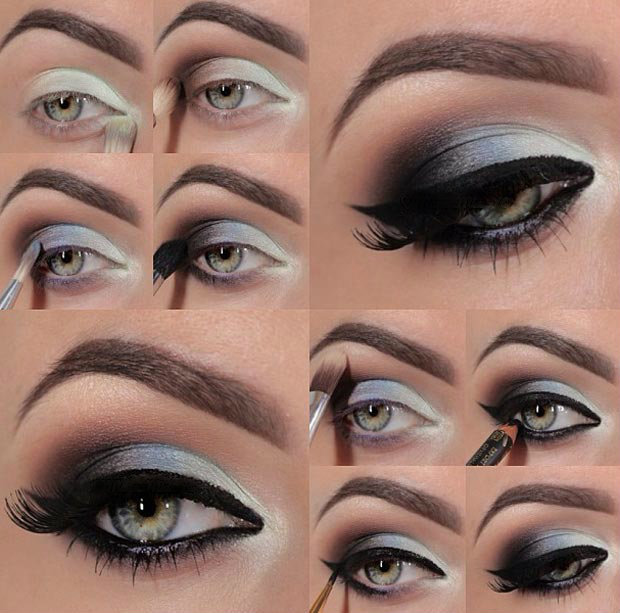 Макияж глаз для сероглазых брюнеток