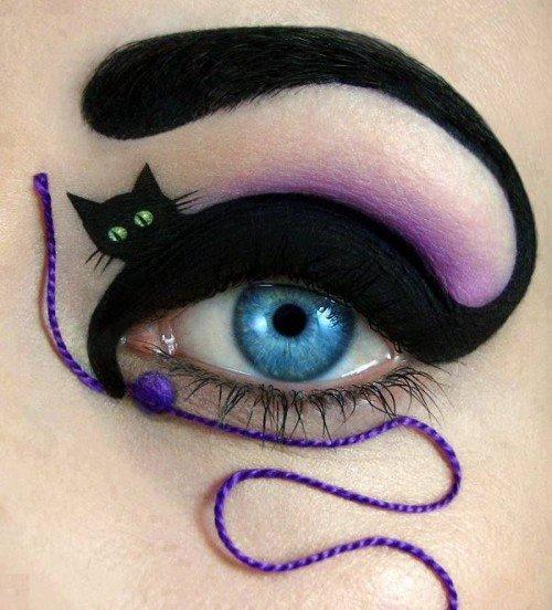 макияж на Хэллоуин - кошки фото 2
