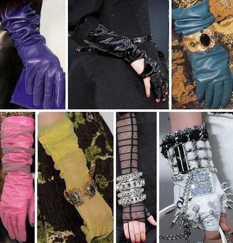 Модные длинные перчатки 2015 - фото