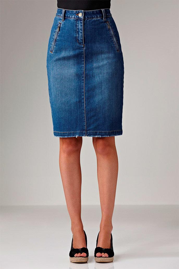 модные джинсовые юбки фото 2016