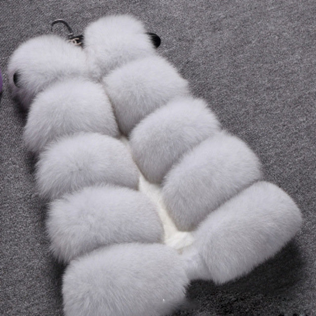 Новинка 2015 мода зима женщины меховой жилет из искусственного меха лисы жилеты девушку искусственный мех пальто женский дамы шубы размер S XXXL купить на AliExpress