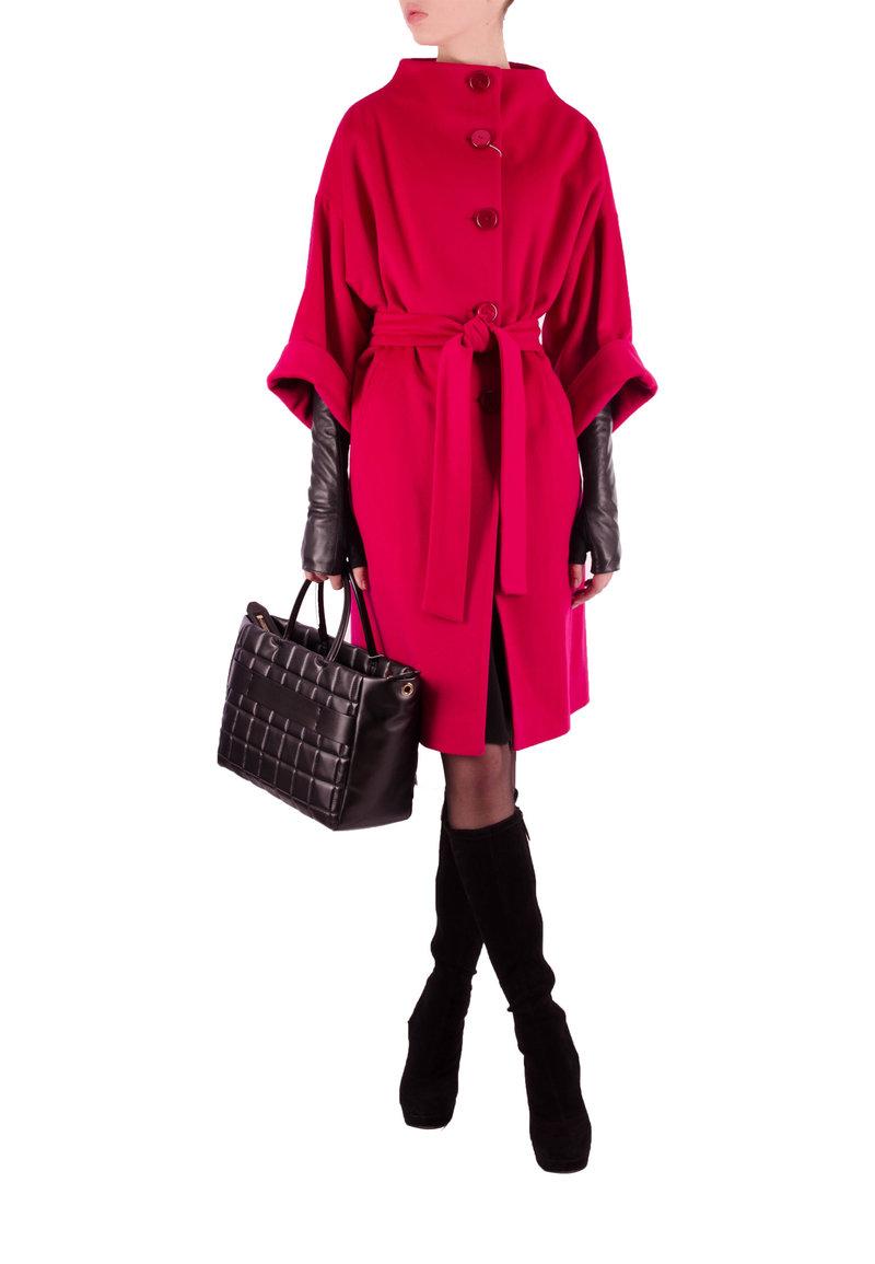 Пальто TERESA TARDIA, (цвет: розовый) - купить по цене 42900 рублей - PodiumLuxe.ru
