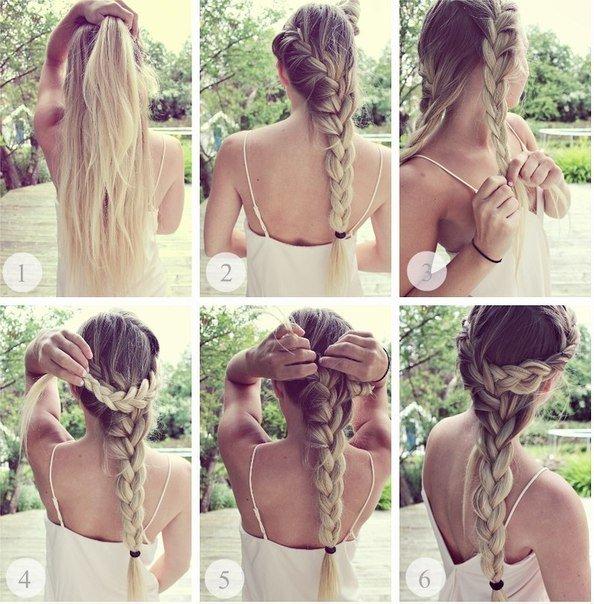 Плетение косы фото уроки