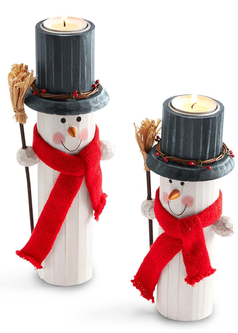 Подсвечник «Снеговик» (2 шт.) белый/красный/черный - Для дома - bpc living - bonprix.ru