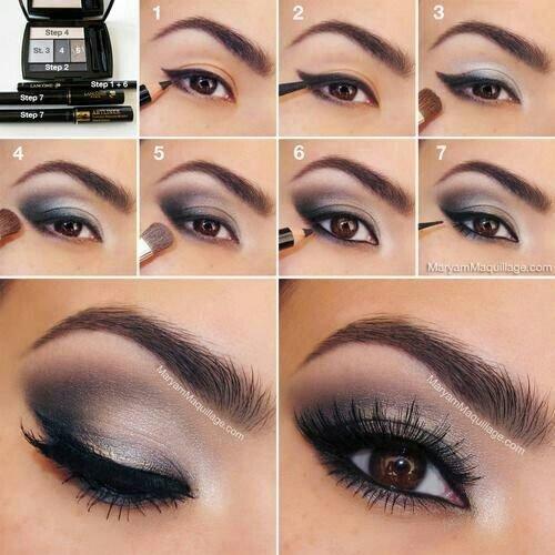 Пошаговый макияж для карих глаз