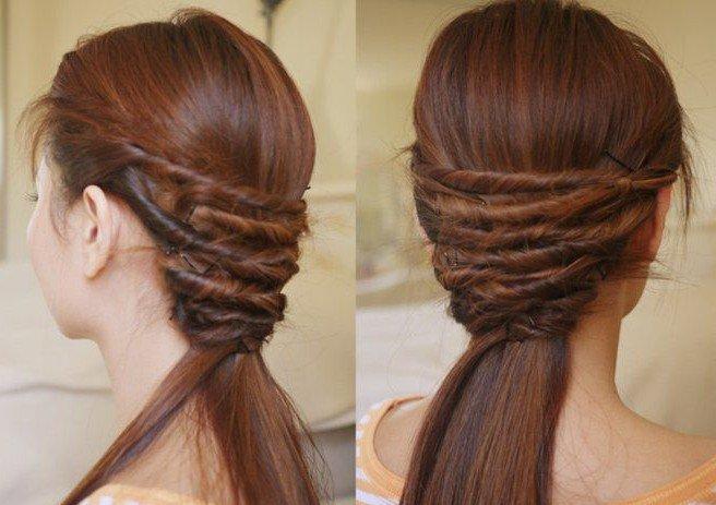 Простые укладки для длинных волос, фото