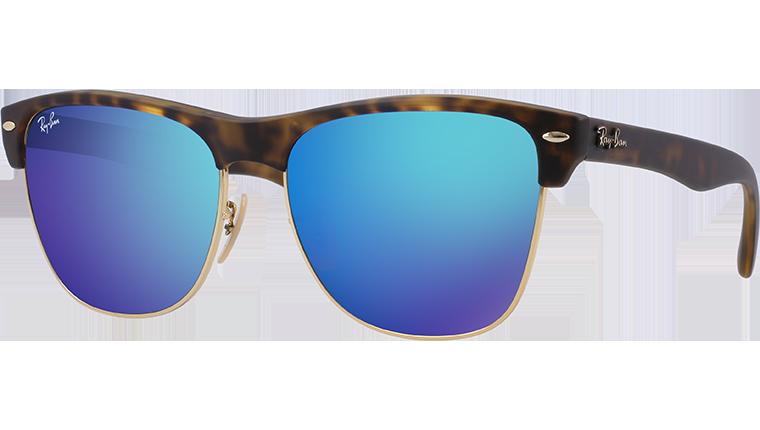 Ray-Ban Коллекция Солнцезащитные очки - Clubmaster Oversized Flash Lenses RB4175-1 | Официальный Сайт Ray-Ban® - Russia