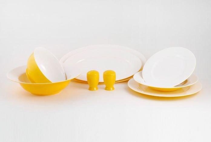 Сервиз столовый на 6 персон 24 предмета - Желтое