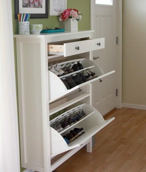 Шкаф для обуви в прихожую: 15 фото идей