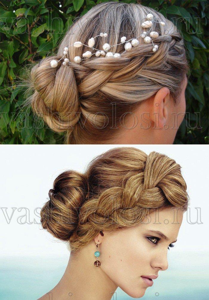 Свадебные косы на длинные волосы