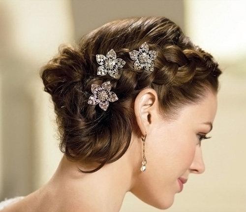 Свадебные прически на средние волосы – 95 лучших фото вариант
