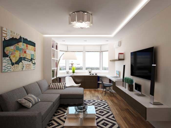 Светлый дизайн однокомнатной квартиры. Фото 1