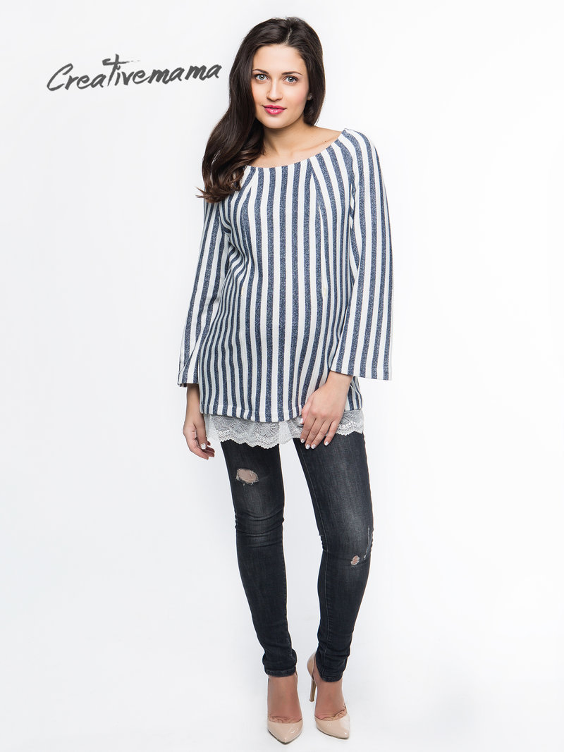 Свитшот Stripe (хлопок ) | Creative Mama - одежда для беременных и кормящих из натуральных тканей