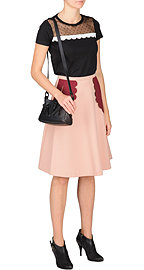 Топ и юбка Red Valentino, ботильоны McQ, сумка Kenzo