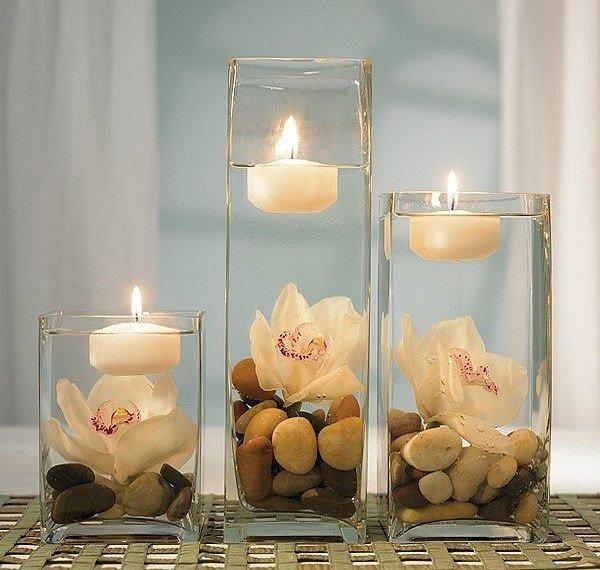 украшение свечами комнаты