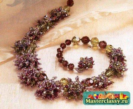 Украшения из бисера Цветочное колье Схема  Master classy - мастер классы для вас