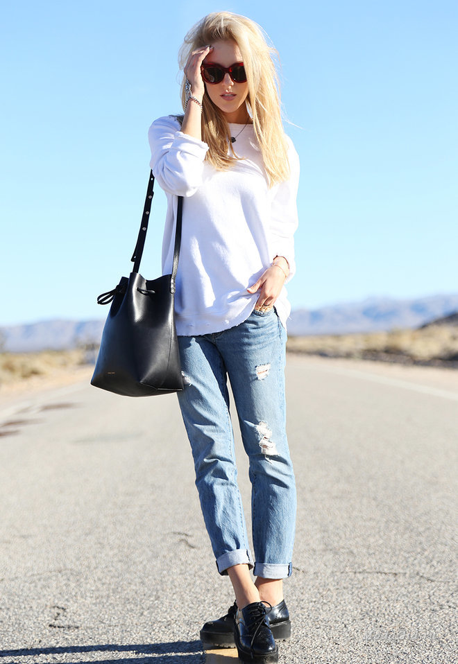 Уличная мода: Модный тренд джинсы бойфренды: с чем носить в осенне-зимнем сезоне 2014-2015