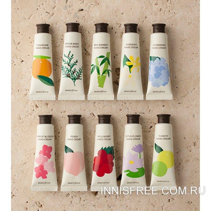 Увлажняющий  крем для рук с экстрактом лесных ягод Innisfree (Инисфри) Wild berry hand cream 30ml