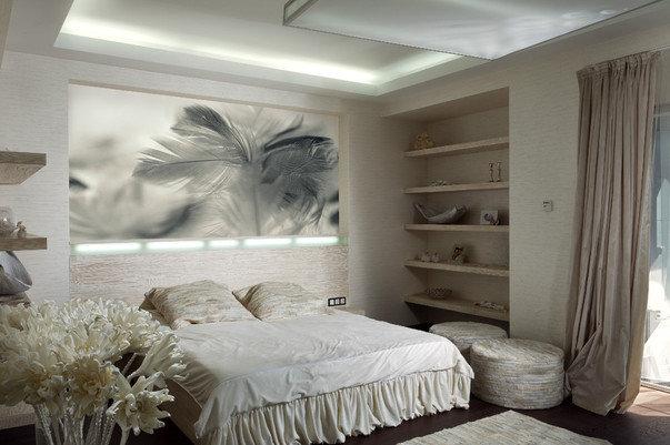 Фотообои для спальни с крупным изображением