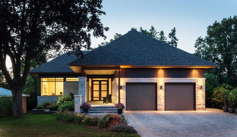 рисунка: проекты одноэтажных домов со встроенным гаражом именно такая