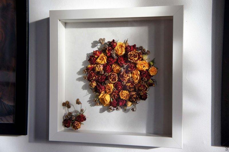 Картины из сухих цветов своими руками фото