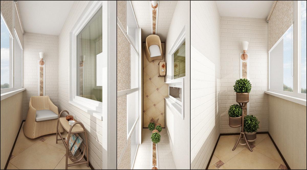 Несколько интересных идей по отделке маленького балкона свои.